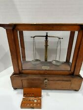 Antique Kohlbusch Lab Apothecary Diamond Scale Analytical Balance with 6 Weights