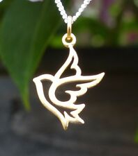 24 Carat Gold Plated Dove Pendant Bird Charm for Necklace Gold Bridesmaid Gift