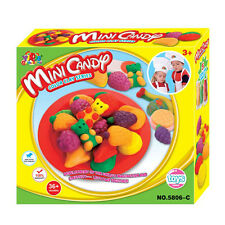 Yiqis Play Dough Mold Set Mini Candy Mode Soft Clay Plasticine Kids Toy Colorful
