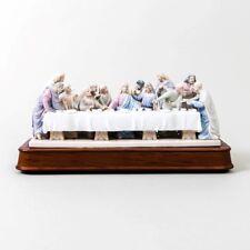 Roman Porcelain Jesus & The Last Supper Statue Music Box The Valencia Collection