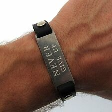 Custom Mens Bracelet - Never Give Up Bracelet for men -Personal Gift for Husband