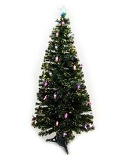 Green 150CM (5FT) Fibre Optic Tree With 28 Colour Changing Leds