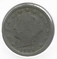Rare Very Old Antique 1906 US Liberty V Nickel Collection Coin USA 5 Cent Money