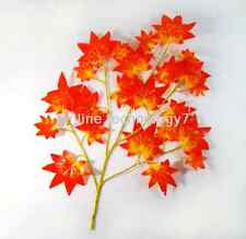 6 pcs Maple BRANCH TREE SPRAY ARTIFICIAL PLANT 300pcs FAUX Maple LEAVES