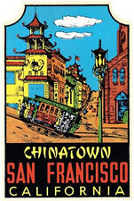 Chinatown-San Francisco, CA  Vintage-Style Travel Decal