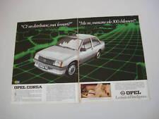advertising Pubblicità 1983 OPEL CORSA TR