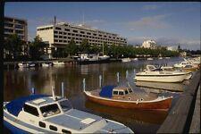078078 Hotel MARINA PALAZZO con le barche su fiume Aura Turku A4 FOTO STAMPA