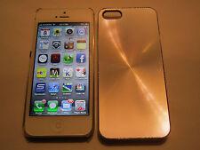 Silver iPhone SE 5S 5 SPIRAL Aluminum Metal Full Back Designer Case ,Clear Side
