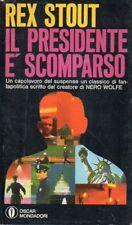 G10 Il presidente è scomparso Rex Stout Oscar Mondadori 1969