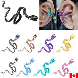 1PC brass Non-piercing Snake Shaped Cilp Ear Cuff No Piercing Fake Earring punk