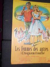 GILBERT BECAUD CROQUEMITOUFLE LES FEMMES DES AUTRES 1953 RARE AFFICHE POSTER