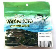 """Black Silver Flk  Gary Yamamoto 4/"""" Double Tail Hula Grub 93-10-177 BIN G Smoke"""