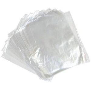 "500 Polythene Clear Plastic Food Safe Storage Bags 120 Gauge 24"" x 24"""