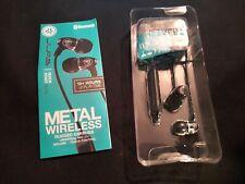 GENUINE NEW -J Lab Metal Rugged Aluminium In-Ear + Mic Wireless Headphones/Black