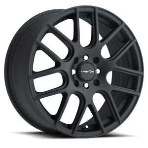 15X6.5 Vision 426 Cross II 5x108/5x114.3 ET38 Matte Black Wheel (1)