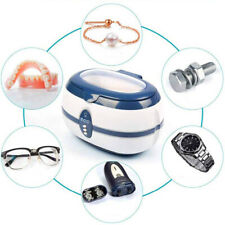 Pulitore ad ultrasuoni pulizia gioielli oggetti metalli monete occhiali 600ml