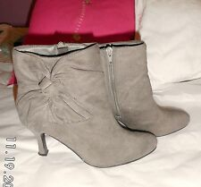 Atmosphere Zip Patternless Faux Suede Boots for Women