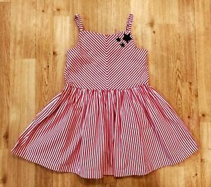 Gymboree Red And White Striped Fit And Flare Dress Size 4
