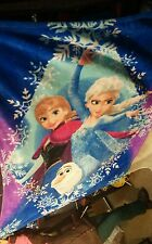 "Disney Frozen Anna Elsa & Olaf Oversize Fleece Throw Blue 59"" X 78"""