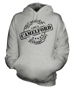 MADE IN CAMELFORD UNISEX HOODIE MENS WOMENS LADIES GIFT CHRISTMAS BIRTHDAY 50TH