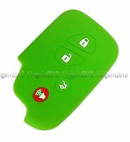 Green Silicone Jacket Remote Key Shell Cover Holder For Lexus IS250 IS350 IS F