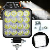 Für PKW SUV 16W Square LED Arbeitsscheinwerfer 12V 24V Offroad Flood Spot Lampe