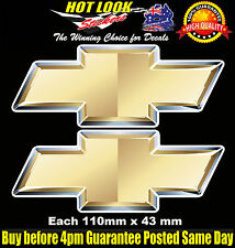 CHEVY CHEVROLET Decals Stickers X2 110 WIDE x 43mm HIGH  Car Motor Drag Racing