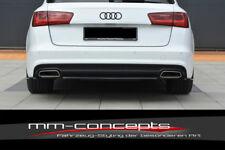 CUP Diffusor Ansatz SCHWARZ für Audi A6 Avant C7 4G Facelift S6 Heck Stoßstange