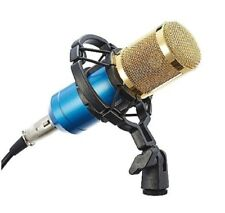 CO-Z Pro BM800-Blue Audio Condenser Microphone Cardioid Mic with Shock Mount
