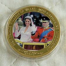 WILLIAM & CATHERINE 2011 COOK ISLANDS PHOTO 24ct GOLD PLATED PROOFLIKE $1 d