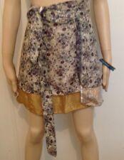 Wrap Skirt   Magic Mini   Silk Blend   Free Post