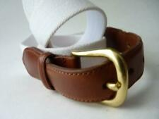 COACH WHITE BROWN LEATHER BELT 42