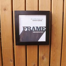 Contemporary Black Wooden Square Glass Box Photo Card Picture Frame