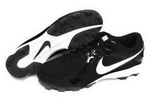 Mens Nike MVP Keystone 3/4 LE 555968 010 Black White Baseball Cleats Shoes