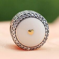 S925 Sterling Silver Limited Edition Precious Heart Enamel Charm Bead F Bracelet
