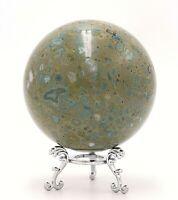 Western Australia Galaxy Agate 90mm Sphere Rock Stone  Free Stand PR1