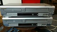 Make offer! Two.. (2) Sylvania SSD803 VHS VCR Player Recorder DVD Player Combo