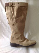 Legroom Brown Knee High Suede Boots Size 7
