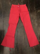 Rare Red D Squared Jeans With Lace Up Detail - Fit Size 30 Inch Waist