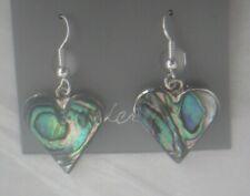Earrings Heart Abalone Shell Alpaca new