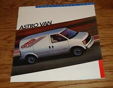 Original 1986 Chevrolet Astro Van Sales Brochure 86 Chevy