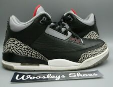 "+Box Nike Air Jordan 3 Retro ""Black Cement"" (136064-010) Size 10"