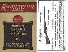 Remington 1917 UMC Guns and Ammunition Catalog