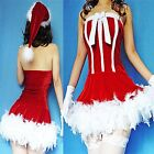 NEW Sexy Miss Santa Claus Christmas Xmas Party Outfit Fancy Dress Costume M L XL