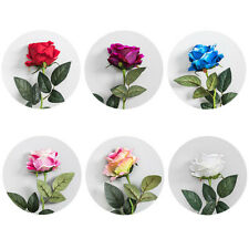 1pc Faux Silk Rose Flower Single Fake Floral Wedding Party Home Garden Decor