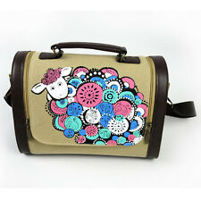 Fashion Canvas Sheep Pattern Women Bags Handbag Crossbody Bag Tote Purse