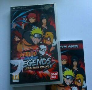 SONY PLAYSTATION PSP NARUTO LEGENDS AKATSUKI RISING   VIDEO GAME FREE POSTAGE