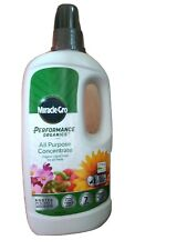 Miracle Gro Performance Organics All Purpose Plant Food 1 Litre Grey new
