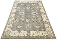 10X14 Oushak Area Rug Gray Hand-Knotted Wool Oriental Carpet (10.1 X 13.10)