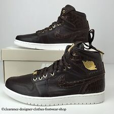 NIKE AIR JORDAN 1 PINNACLE TRAINERS RETRO BAROQUE BROWN 24K GOLD PLATED UK 10